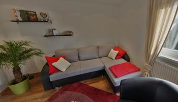 Wohnzimmer Der Ferienwohnung Paul In Oberfranken